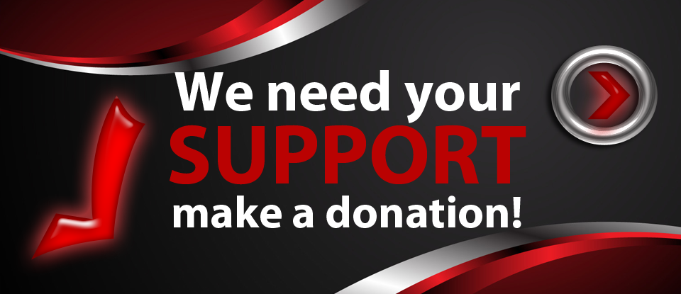 we need your support crowd funding banner