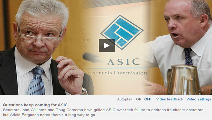 Questions Keep Coming for ASIC