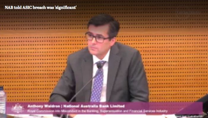"The banking royal commission has heard NAB was aware of a ""significant breach"" months before it was reported to the corporate watchdog."