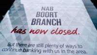 Photo: The National Australia Bank branch in Boort opened in 1880 and survived almost 140 years. (ABC News: Lauren Day)