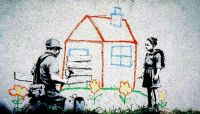 Banksy. Crayon House Foreclosure, East Los Angeles. Via Occupy.com