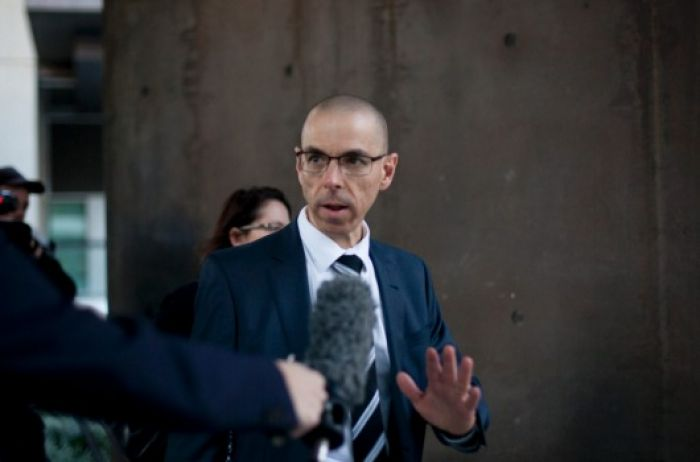 ANZ Bank's Head of Lending Services Ben Steinberg leaving Brisbane's Magistrate's Court on Monday. Supplied